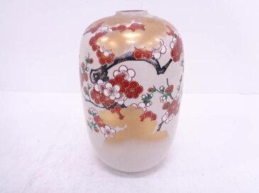 九谷焼 錦玉造 金彩色絵枝梅花瓶【1819OFF】【バーゲン】