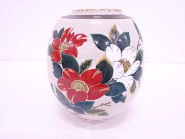 九谷焼 陶和造 金彩色絵椿花瓶【1819OFF】【バーゲン】