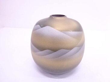 九谷焼 陶寿造 金銀彩遠山花瓶【1819OFF】【バーゲン】