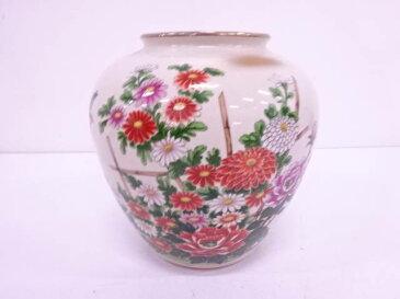 作家物 九谷焼 金彩色絵花鳥花瓶【1819OFF】【バーゲン】