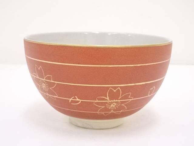 京焼 加藤昌山造 色絵桜茶碗