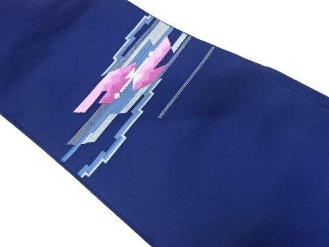 抽象模様織出し名古屋帯【リサイクル】【中古】