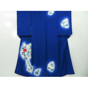 Attached hand-painted shades Tsubaki sentence Kimono [Recycle] [Used]