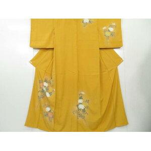 Attached hand-painted dyed Kikubun Kimono [Recycle] [Used]