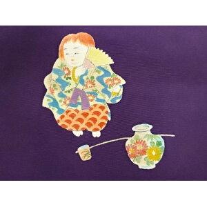 Shiose Hand-painted Bodhisattva Kabuki pattern Nagoya obi [Antique] [Used]