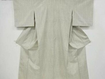 立涌模様織り出し手織り紬単衣着物【アンティーク】【中古】