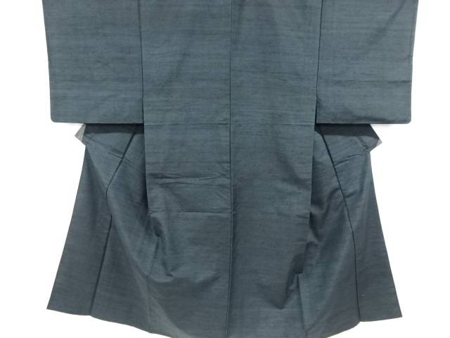 手織り節紬単衣男物着物【リサイクル】【中古】