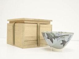 作家物 色絵花鳥茶碗(保護箱)