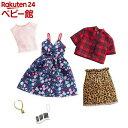バービー ファッション2パック フローラル・チェック GHX57(1セット)【mtlyf】【バービー人形(Barbie)】