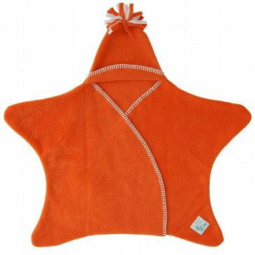 【さらにポイント5倍】送料無料 星型フリースアフガン スターラップ 0-4M(オレンジ) タッペンス&クランブル Tuppence & Crumbleおくるみ ブランケット