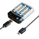 電池式充電器 1A【microUSBケーブル付】(AJ532