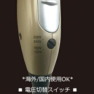 海外でも使える!冷風機能付マルチボルテージマイナスイオンドライヤー(NTI168)
