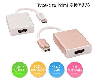 Type-c to hdmi変換アダプター Type-C HDMI変換ケーブル 映像変換 Apple MacBook、Google ChromeBook などに対応