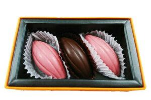 ラ・ネージュ ルビー チョコレート 2個 + 幻の ホワイトカカオ チョコレート 1個各9g 特選