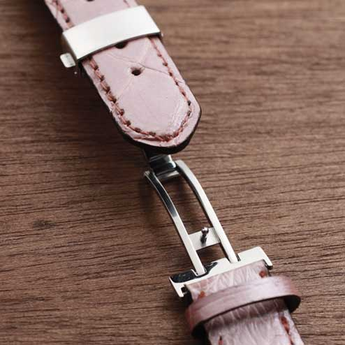 S'FACTORYエスファクトリー 腕時計 ベルト タートル(カメ革)メンズ レザー 革 帯のみ Dバックル スマートウォッチ ピンク