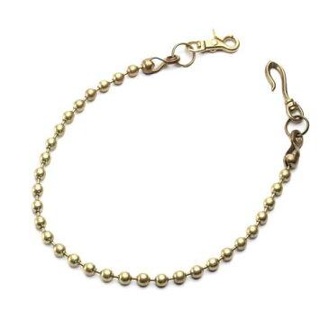 S'FACTORYエスファクトリー 真鍮 ウォレット チェーン ボール大 ゴールド ブラス(真鍮) 財布 金属 ゴールド メンズ アクセサリー 長い