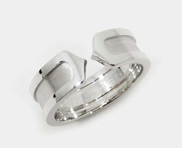 ◇【中古】 美品 【Cartier カルティエ】 K18WG 2C リング リング:ネットオフ ブランド専門館
