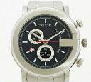 ◇【中古】 美品 【GUCCI グッチ】 クロノグラフ メンズ腕時計 YA101309 クォーツ腕時 ...