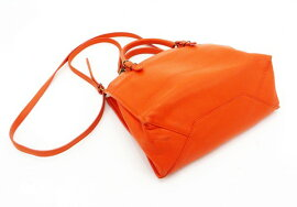 ◇【】【BALENCIAGAバレンシアガ】ザ・ペーパーミニ2WAYハンドバッグ305572ハンドバッグオレンジ