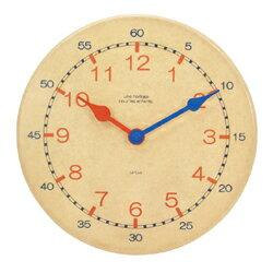 壁掛け時計 子供 キッズキッズクロック お子さんが時計の読みを覚えやすい知育時計です。