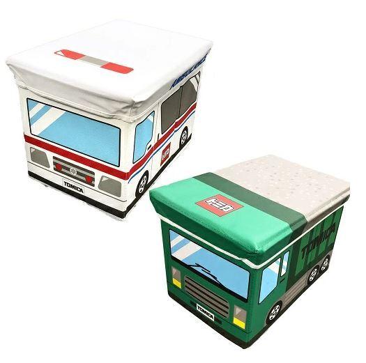 トミカフタ付収納ボックスチェア おもちゃ箱おかたずけボックスBOXグッズ収納おもしろ雑貨インテリア車BOX収納BOX衣類おもち