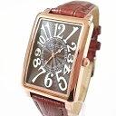 フランク三浦 新色モデル 初号機(改)腕時計 ジャパンクオーツ ブラウン×ローズゴールド FM01K-BRRG 完全非防水 ユニセックスウォッチ 【あす楽対応】