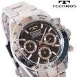 TECHNOS(テクノス) クロノグラフ腕時計 スポーティ精悍な多機能ウォッチ! TSM401SB 【あす楽対応】