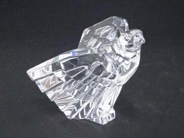 【ガラス】STEUBEN スチューベン Cut Eagle ガラス鷲置物【送料無料】[中古 インテリア オブジェ 置き物 雑貨 骨董 フィギュア グッズ 小物 飾り かわいい おしゃれ]