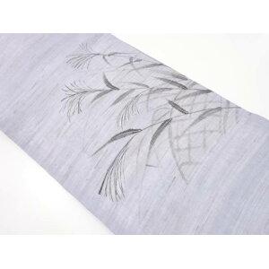 [Golden Week Sale 50% Off!] Recycled Tsumugi hand-painted flower pattern Nagoya obi [Free Shipping] [Kimono / Kimono / Kimono / Kimono / obi]