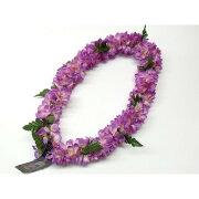 フラダンス レイ 首飾り ハワイアン シェルジンジャー 紫 L-25 12680