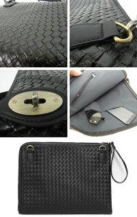 40ef7560e465 リアルPUレザー編み込みクラッチバッグビジネス人気メンズバッグ通販男女兼用men'sレディースバッグ