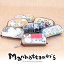 マンハッタナーズ manhattaner's!キーケース コインケース 【ピッグパース】 レディース 猫 ネコ ねこ かわいい 財布 小銭入れ 革 人気ブランド 【ポイント10倍】 プレゼント ギフト 【送料無料】【あす楽】