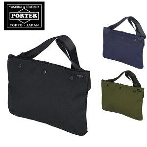 ポーター PORTER!スリムでかさばらない!iPadや小さめのノートPCもしまえるショルダーバッグ。...