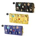 ツモリチサト 財布!ギャザー状の表面に、キュートな指輪の刺繍と立体的で色鮮やかなラインスト...
