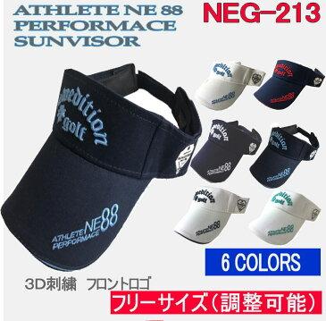 ゴルフ キャップ 帽子 サンバイザー メンズ カラー フィット おしゃれ コットン綿 3D刺繍 フリーサイズ NEG-213 スーパーSALE【NewEdition GOLF】