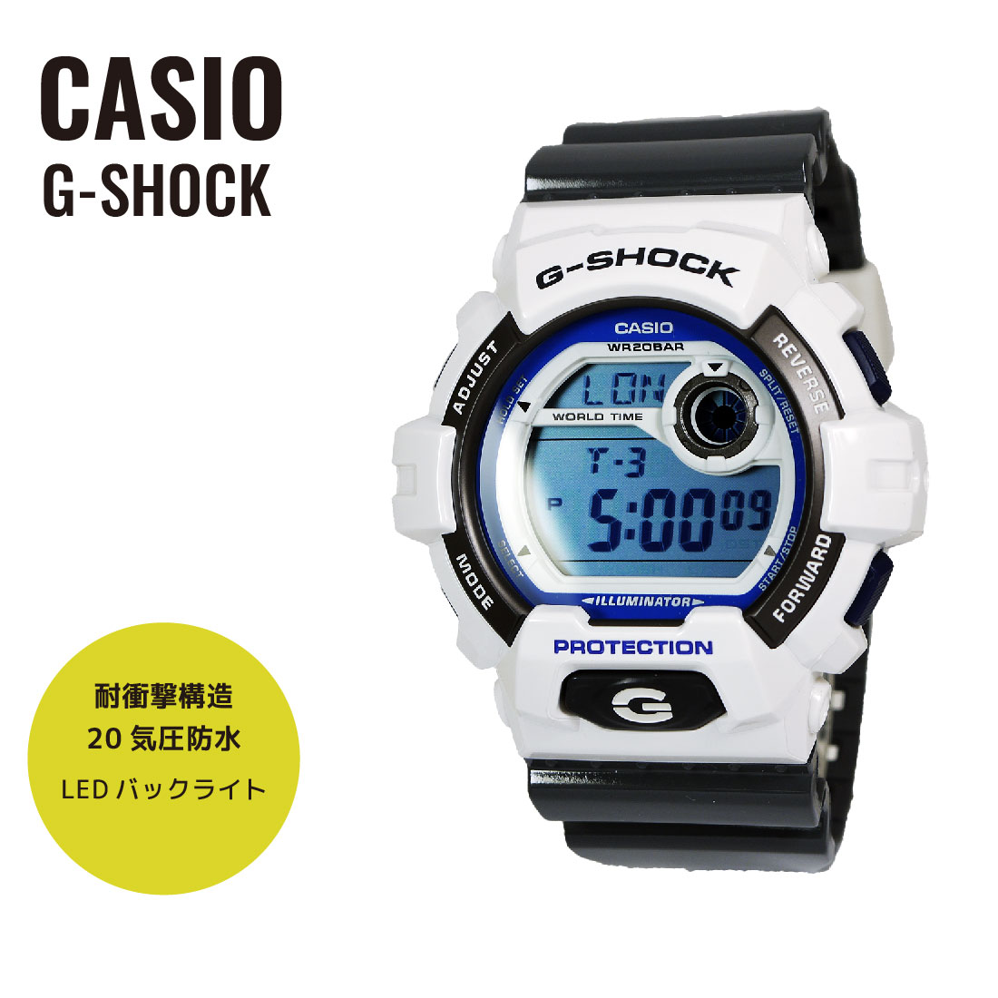 腕時計, メンズ腕時計 CASIO G-SHOCK G Crazy Colors G-8900SC-7
