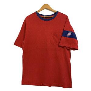 USA製 90s Polo Ralph Lauren \P-WING\ Pocket S/S Tee 赤 L ポロ ラルフローレン Pウイング ウイングフット 袖プリ Tシャツ ポケT RL-92 【中古】