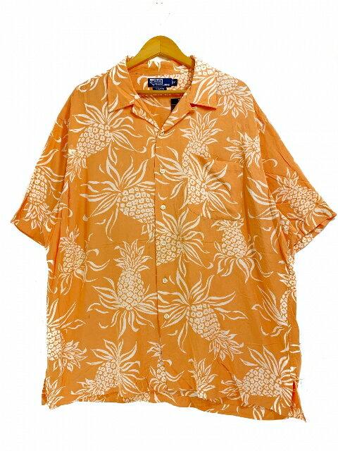 トップス, カジュアルシャツ Polo Ralph Lauren CLAYTON Rayon Aloha Shirt XL
