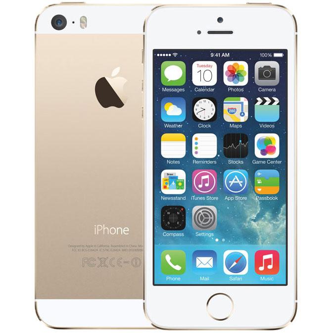 アップル iPhone 5s SIMフリー モデル 32GB ゴールド 修理完了品