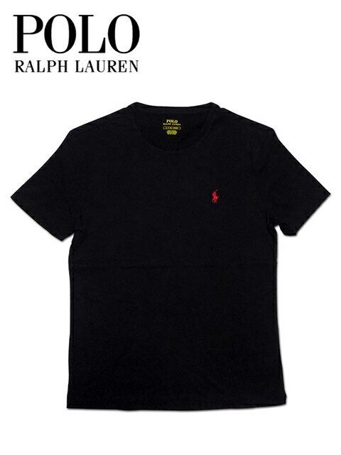 """【メール便OK】【あす楽対応】【楽ギフ_包装】【メンズ Tシャツ・ブラック】Polo Ralph Laurenポロ ラルフローレン【S M L XL】""""着心地抜群!!ワンポイントポニー刺繍コットンTシャツ"""""""
