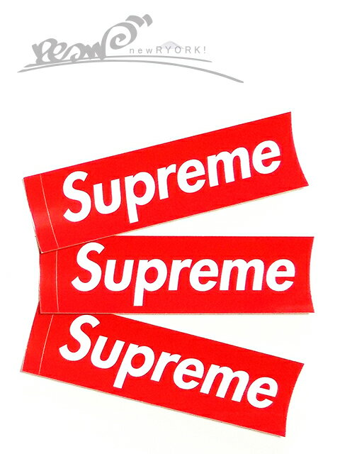 """【送料無料】【ステッカー・レッド】Supremeシュプリーム【Supreme Box Logo Sticker】""""シュプリームボックスロゴステッカー3枚セット"""""""