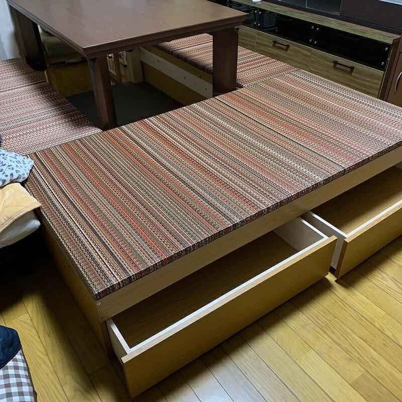 【美草】高床式 ユニット 畳 40×120 高さ33cm畳収納 収納畳 畳ベッド 畳BOX 畳ボックス タタミベッド スツール たたみベッド