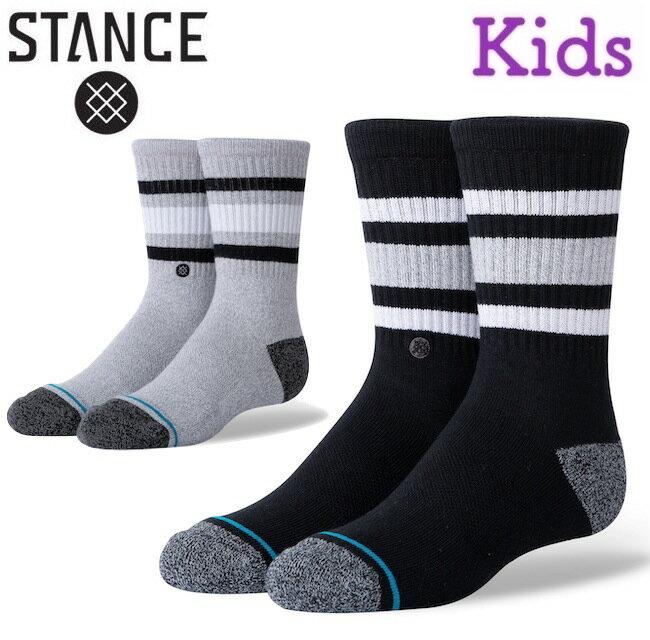 靴下・レッグウェア, 靴下 STANCE BOYD ST KIDS KIDS Boys socks sox SKATE HEATHER GREY BLACK