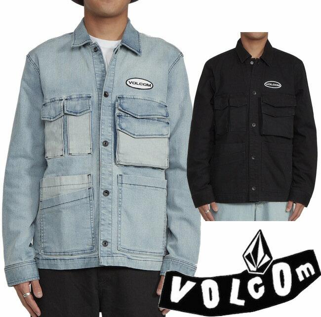 メンズファッション, コート・ジャケット VOLCOM VOLCOMPARTMENT DENIM JACKET BLACK BLUE
