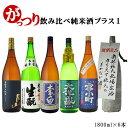 日本酒 飲み比べ 送料無料 純米酒プラス1 がっつり日本酒飲...
