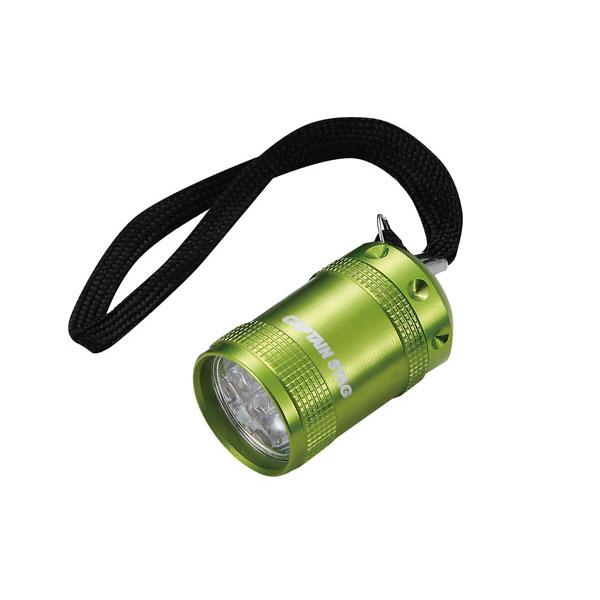E(C) アルミミニライト ライムグリーン/M-5136/防犯/携帯/電気/LED照明/景品