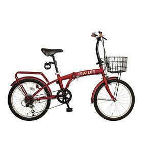 B-GROW 20インチカラフル折りたたみ自転車 シマノ6段変速 カゴ/ワイヤーロック/LEDライト付 BGC-F20-RD RD 【メーカー公認正規品販売店】ご購入後もしっかり保証【送料無料】大量注文も対応致します。