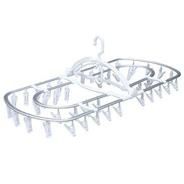 アイリスオーヤマ ピンチハンガー アルミ 44ピンチ ホワイト PIA-44P PIA-44P / 日用品雑貨 洗濯用品 洗濯バサミ