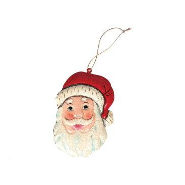 【 DULTON HANGER SANTA HEAD K655-645SH 】 オーナメント 飾り クリスマス Xmas サンタクロース 人形 ブリキ おしゃれ 雑貨 インテリア ダルトン ハンガー サンタヘッド