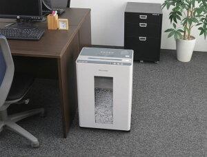 アイリスオーヤマシュレッダーオフィスBU15ホワイト/グレー/オフィス機器シュレッダー